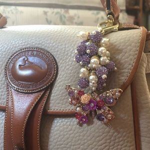 Accessories - Butterfly purse charm in pretty purple and pearl